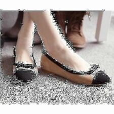 Trendy Women's New Casual Patchwork Bowknot Simple Flat Suede Shoes Loafers 2015