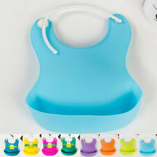Feeding Lunch Bibs Saliva Unisex Kids Aprons Infant Waterproof Silicone Baby New