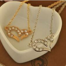 Wishing Pendant Heart Accessories Necklace Artificial Crystal