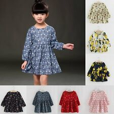Flower Girls Princess Dress Kids Baby Party Wedding Pageant Dresses Clothes 1-6Y