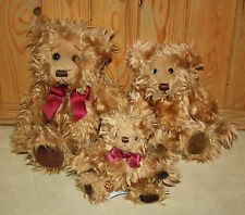 Russ Berrie GREGORY Family of Bears Small Medium & Large
