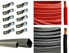 2/0 Gauge 2/0 AWG Red or & Black Welding Battery Cable + Cable Lugs Heat Shrink