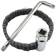 Oil Filter Wrench Removal Install Tool Chain type Strap Clamp Socket Car Truck
