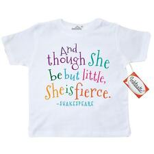 Inktastic Funny Shakespeare Quote Toddler T-Shirt William Humor And Though She
