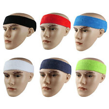 Cotton Stretchy Sport Color Sweat Sweatband Headband Hair Band Yoga Fashion 1pcs