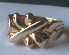 """UNISEX """"PUZZLE RING"""" Bronze - Gold Plated -  Sizes 6.5 to 13.75 US"""