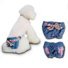 Female Pet Dog Physiological Pants Sanitary Diaper Belly Band Nappy Cowboy Blue