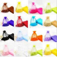 Fashion Organza Wedding Pouches Candy Gift Bags Jewellery Pouches 12x9cm