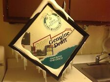 COLD FILTERED MILLER BEER MIRROR SIGN 17 3/4 x 18 WITH FRAME