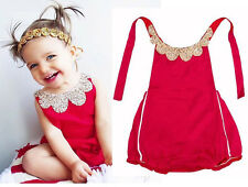 Free shipping Infant Baby Newborn Girl Red Backless Romper Bodysuit Jumpsuit top