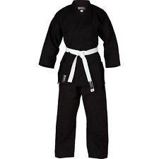 Blitz Adult Black Challenger Karate Gi Suit Unisex Martial Arts Training