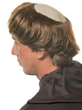 Bald Circle Monk Wig Holy Father Hair Stag Do Vicar Bald Patch Fancy Dress