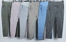 New Ladies Lagenlook Italian Boho Soft Cotton Casual Comfy Trousers Bottoms