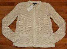 NEW NWT Womens Banana Republic Sweater Knitted Cardigan Cream Off-White $89 *W2