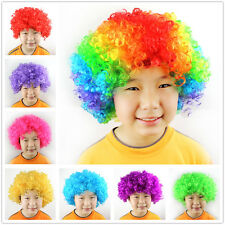 Fashion Clown Curly Afro Circus Fancy Dress Hair Wig Cosplay Party Disco Costume