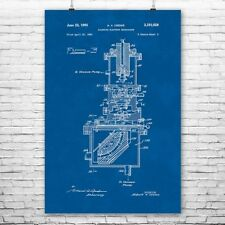 Scanning Electron Microscope Poster Patent Art Print Gift Physicist Science Wall