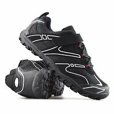 Mens Lace Up Cycling Shoes Walking Hiking Cycle Bike Sports Trainers Shoes Size