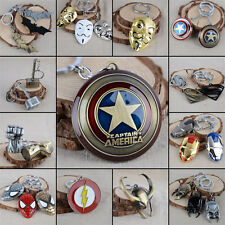Hot Avengers Marvel Character Key Chain Captain America Thor Hulk Batman Keyring