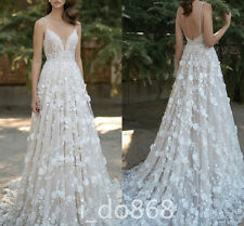 Hot 2016 New Romantic Appliques Wedding Dresses A-Line Bridal Gowns Custom made