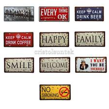 Vintage Metal Sign Tin Poster Sheet Pub Bar Cafe Home Wall Decor Plaque 10 Types