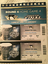 Pittsburgh Penguins Stanley Cup Finals Ticket Stubs Round 4 Home Game 4