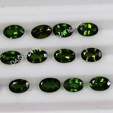 3X4MM TO 6X8MM 100% NATURAL CHROME DIOPSIDE FACETED CUT OVAL LOOSE GEMSTONE