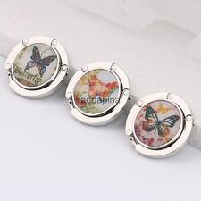 Various Butterfly Round Folding Travel Handbag Tote Purse Bag Hanger Hook Holder