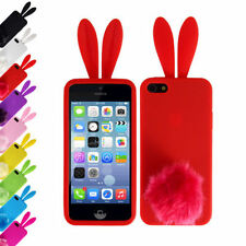 Cute Soft TPU Back Bunny Rabbit Protector Phone Cover Case Skin For iPhone 5/5S