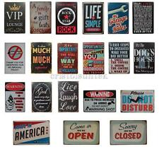 Various New Retro Metal Wall Plate Tin Sign Plaque Pub Picture Home Art Decor