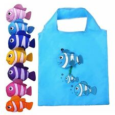 ECO Reusable Fish Folding Shopping Bag Travel Grocery Bags Shopper Tote Pouch FN