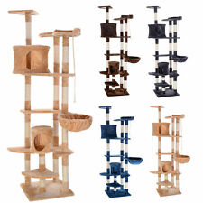 "New 80"" Cat Tree Condo Furniture Scratching Post Pet Cat Kitten House 4 Colors"