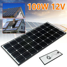 100W 12V Mono Solar Panel Battery Charger For Motorhome Camper Caravan Boat