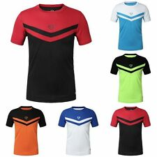 Mens Sport T-shirt Quick Dry GYM Workout Clothing Tops Tee Shirt Tee 5Colors