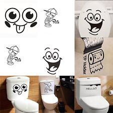 Vinyl Home Paper Decals Toilet Wall Sticker Bathroom Decor Removable