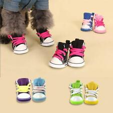 Pet Dog Sporty Shoes Boots Denim Casual Lace-Up Booties Doggy Sneaker Size XS-XL