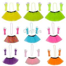 1980's Womens Tutu Skirt Hen Party Fancy Dress Adults Party Ball Cosplay Costume