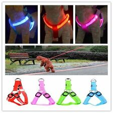 LED Nylon Collar Led Glow Flash Light Dog Puppy Belt Pet Safety Collar Rope EW