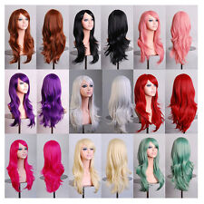 Fashion Women's Long Wavy Curly Full Wigs Hair For Cosplay Party Costume Anime