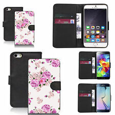 faux leather wallet case for many Mobile phones - purple carnation