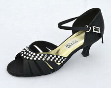 Ladies Black Ballroom, Salsa, Latin, Jive, Tango Dance Shoes - UK Sizes 3.5 - 7