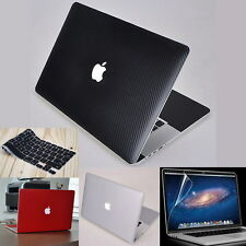 Carbon Fiber Skin Cover Case Palm-Rest Guard Protector for Apple MacBook Laptop