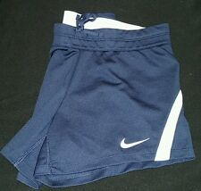 NWT WOMEN NIKE TRAINING RUNNING NAVY SHORTS~INFIKNIT MID RISE DRI FIT 724426-451