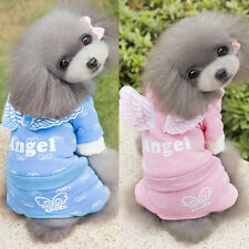 New Pet Dog Cat Puppy Hoodies Clothes Winter Warm Angel Wings Coat Party Apparel