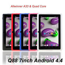 "7"" 8GB MID Tablet PC DUAL Cam Q88 A33 QUAD CORE Android 4.4 AllWiner Promotion B"