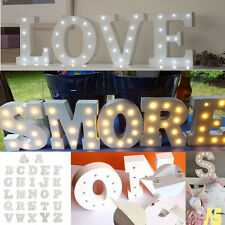 Vintage Wooden LED Marquee Letter Alphabet Symbol Lights Sign XMAS Wedding Party