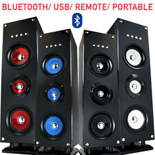 Large Multimedia Portable Wireless Bluetooth Tower Speaker FM Radio SD Card USB