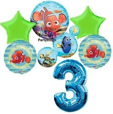 DISNEY NEMO 3RD BIRTHDAY PARTY BALLOONS BOUQUET SUPPLIES DECORATIONS DORY