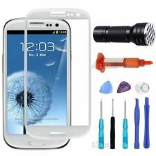 White Samsung Galaxy S3 Outer Screen Glass Lens Replacement UV Light/Glue Tools