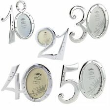 """Beautiful Silver Plated """"Number"""" Photo frame - 18th 21st 30th 40th 50th"""