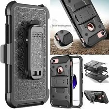 Heavy Duty Hybrid Case Shockproof Stand Cover Belt Clip For iPhone 5 6 6S 7 Plus